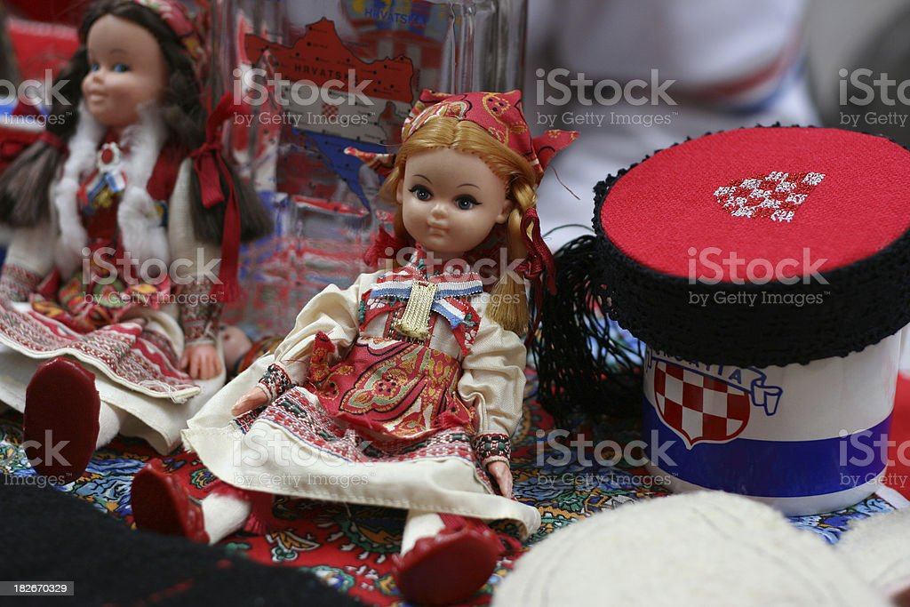 Croatian Souvenirs royalty-free stock photo