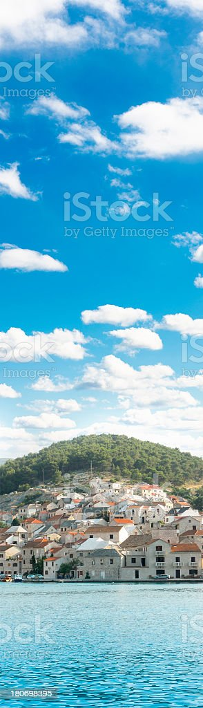 Croatian village banner royalty-free stock photo