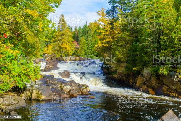 Photo of Croches waterfall, in Mont Tremblant National Park