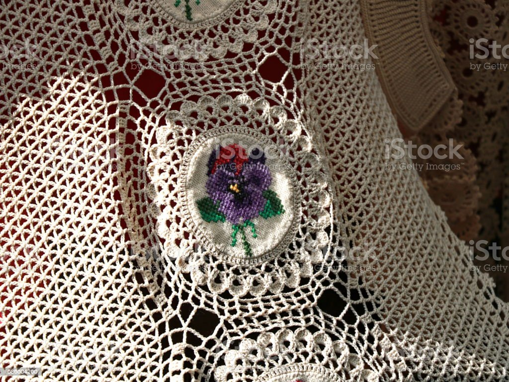 Crochet and embroidery royalty-free stock photo