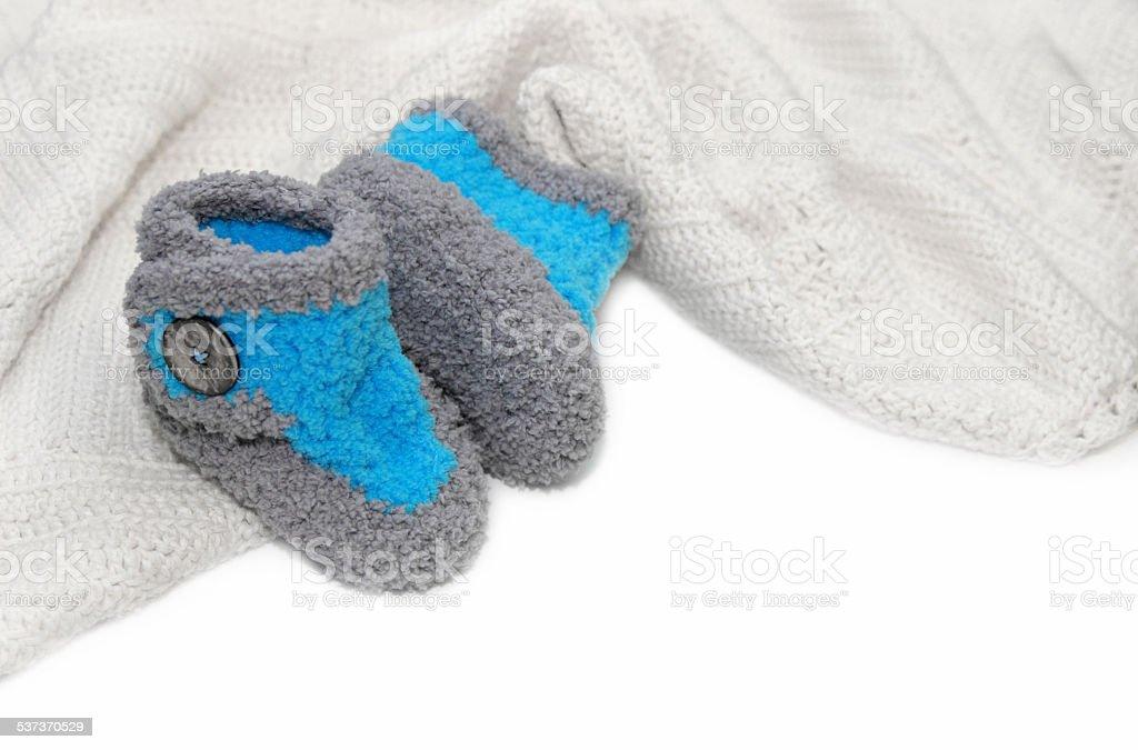 Crochet Baby Boy Booties Stock Photo Download Image Now Istock