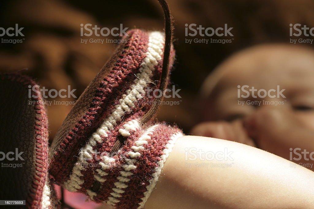 crochet booties stock photo