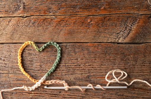 Crochet Chain Heart Symbol