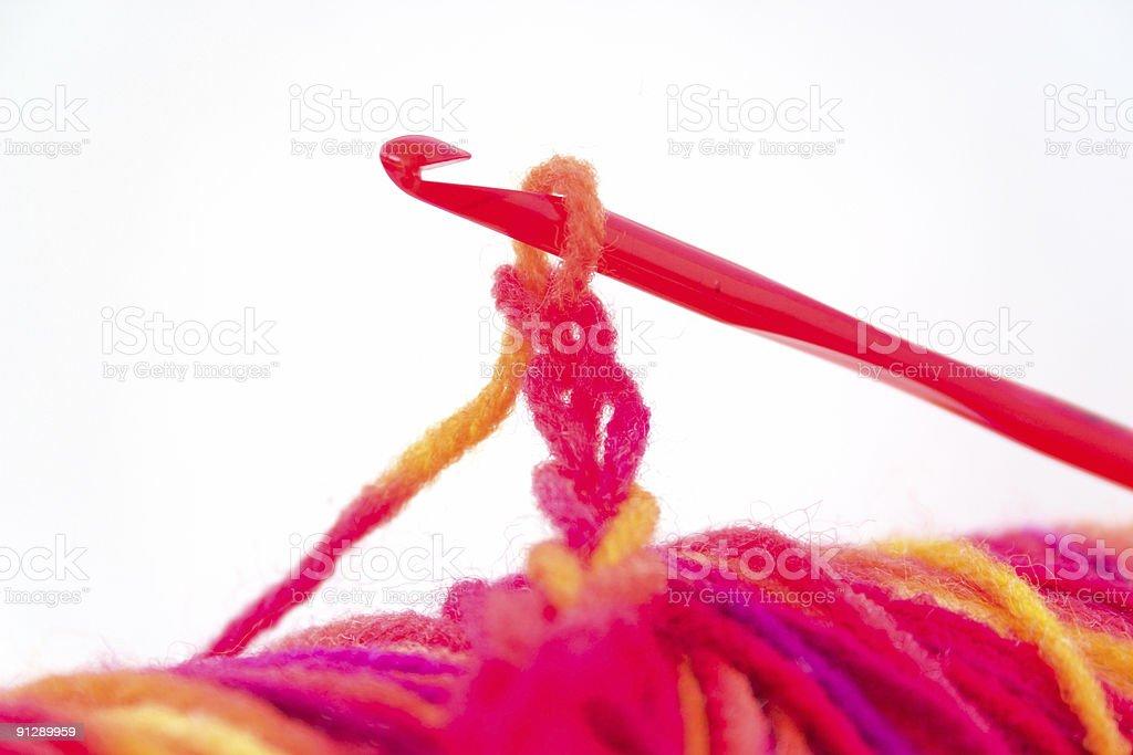 Crochet chain royalty-free stock photo