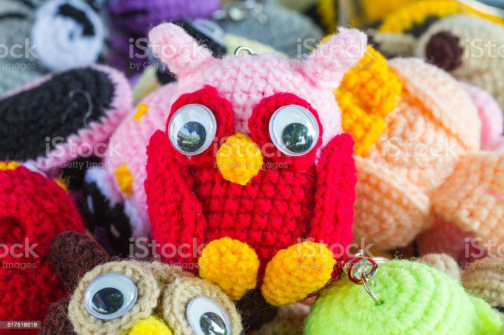 Del ganchillo muñeca artesanales de arte y artesanía - foto de stock