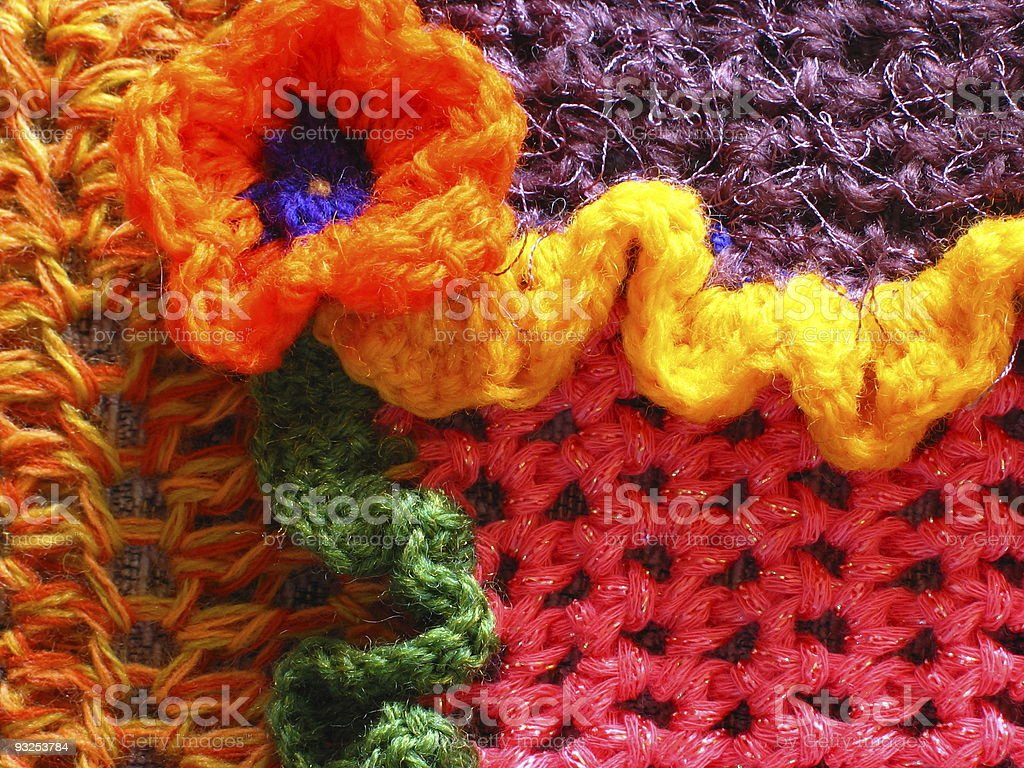 Crochet Flower and Ruffle royalty-free stock photo