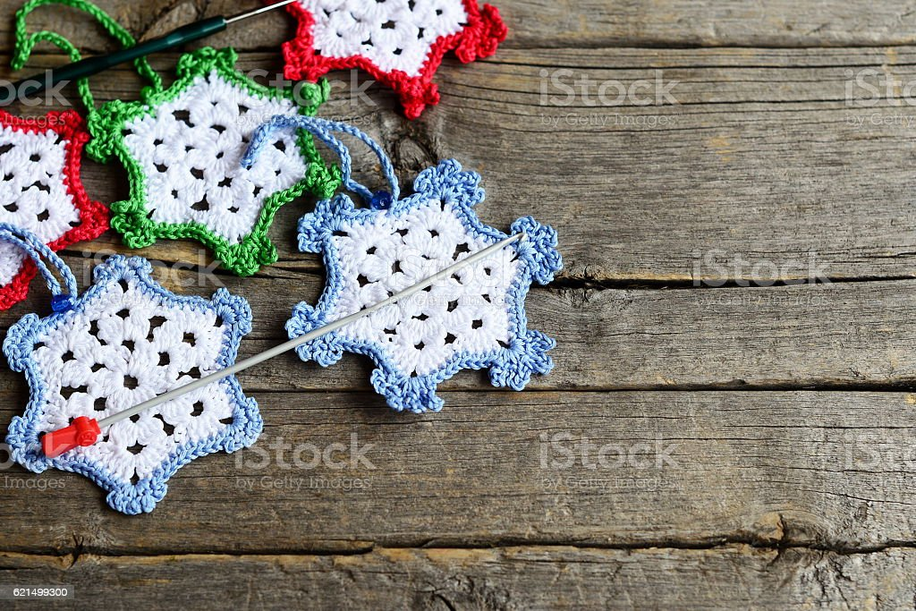 Crochet home decorations foto stock royalty-free