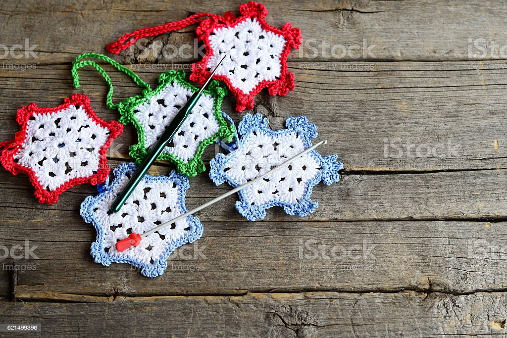 Crochet home ornaments Lizenzfreies stock-foto