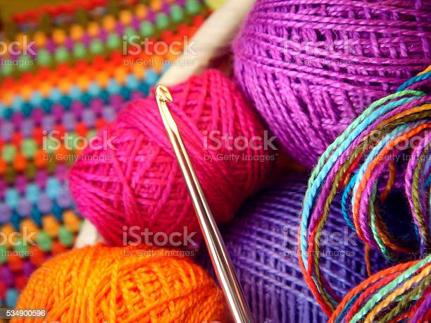 Crochet hook and balls of colored thread picture id534900596?b=1&k=6&m=534900596&s=612x612&h=brudcsb9l  x0oqi jm1dpixe h877o2ccmufaqynhg=
