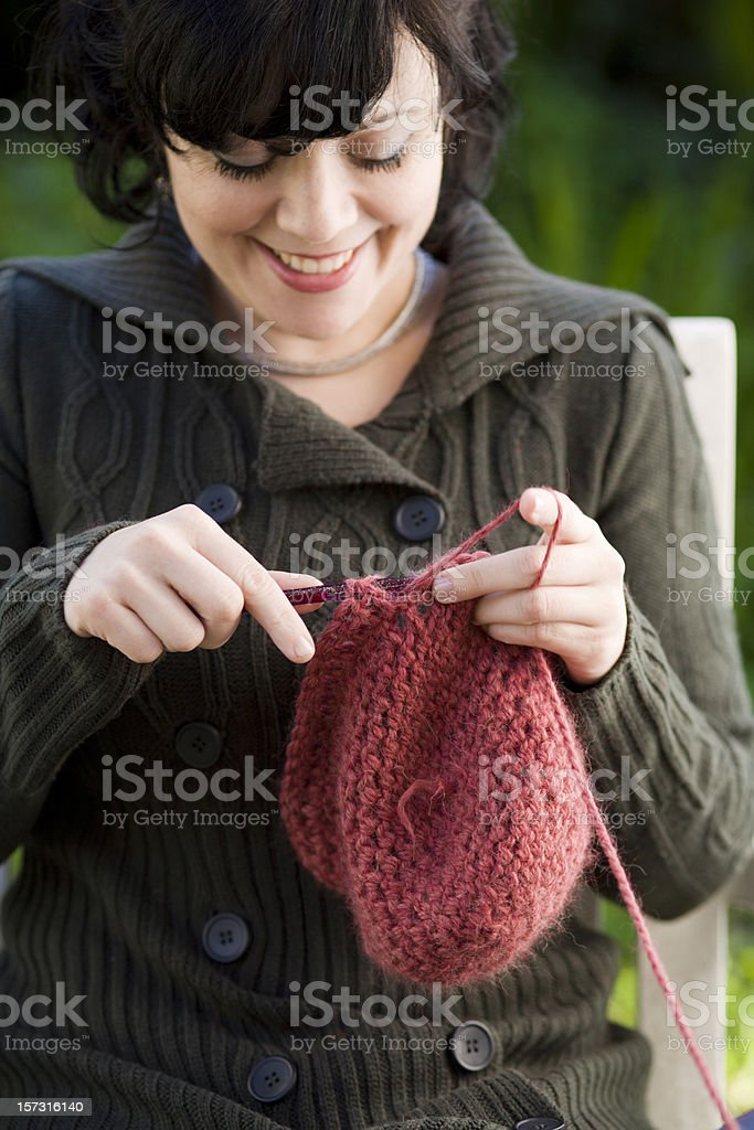 crochet in pink stock photo