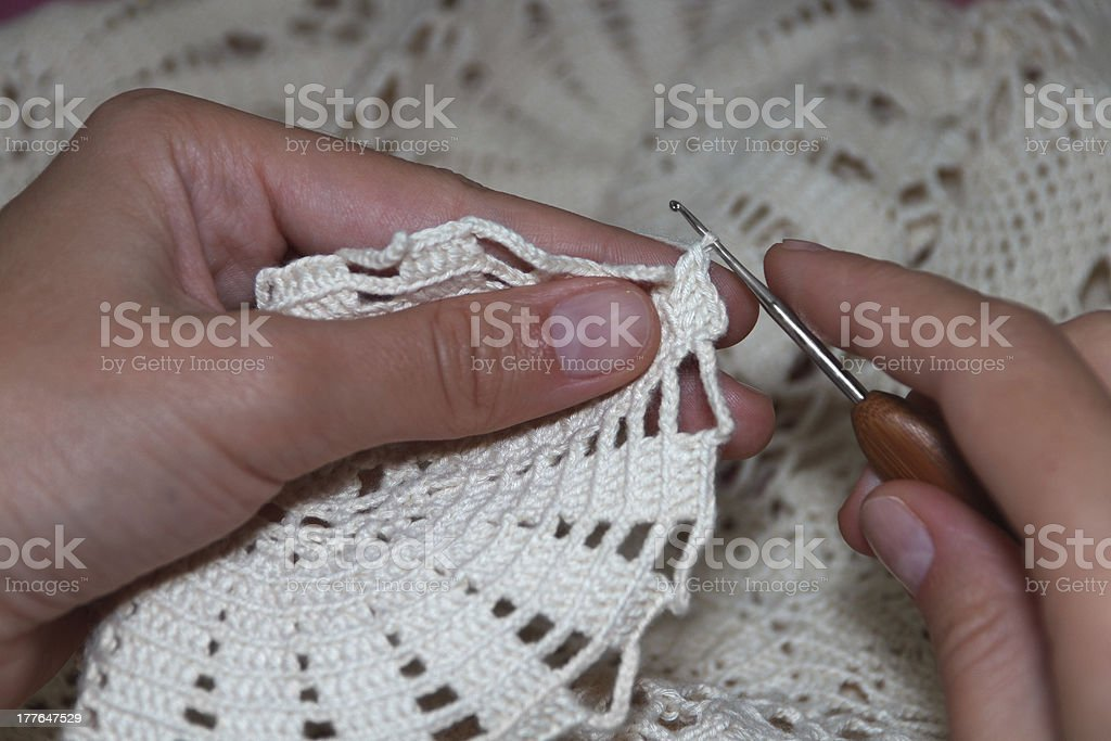 crochet in process royalty-free stock photo