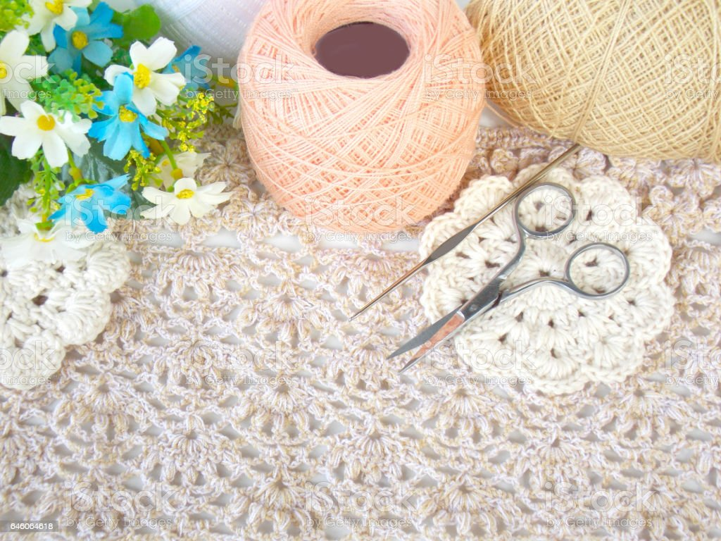 Crochet Lace Background Stock Photo Download Image Now Istock
