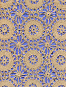 Vector seamless pattern with knitting tools. Vintage repeated texture with sewing accessories.