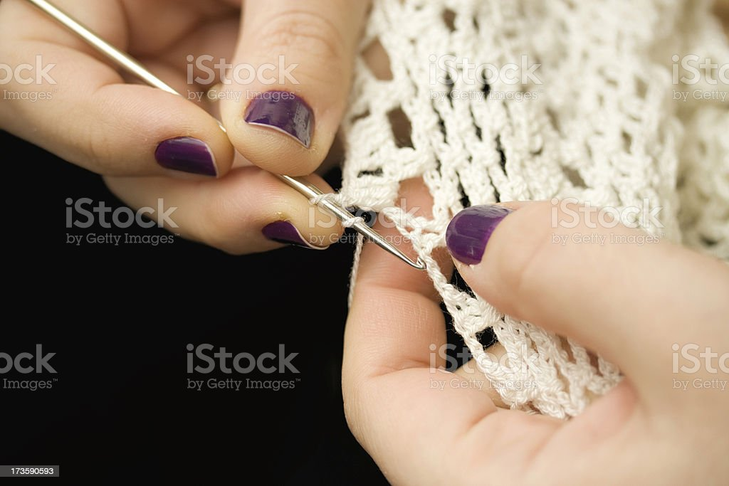 Crochet royalty-free stock photo