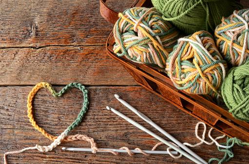 Crochet Yarn and Crochet Hook