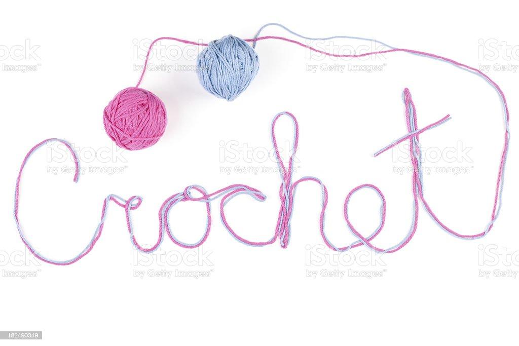 Crochet Yarn Word royalty-free stock photo