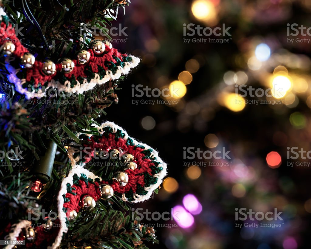 Crocheted Christmas Tree Garland Stock Photo Download Image Now