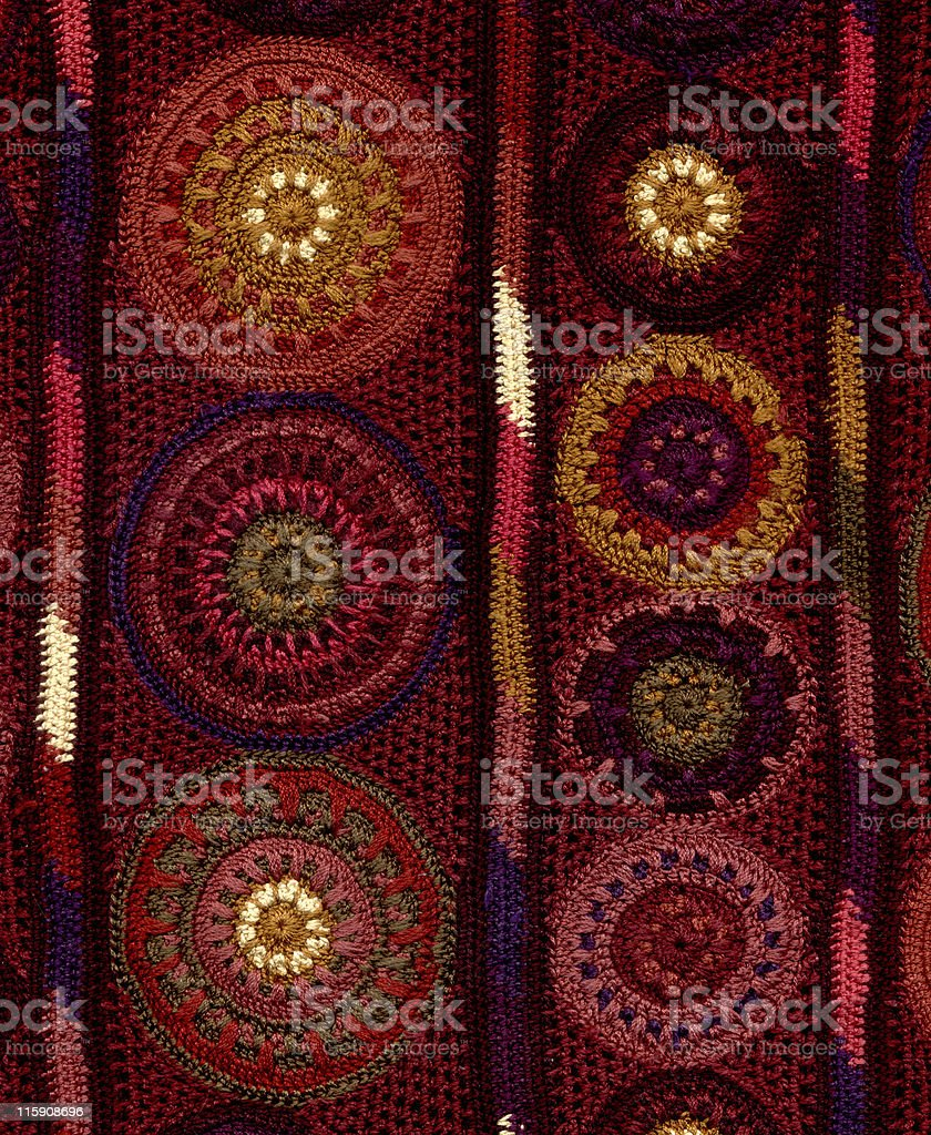 crocheted circles and lines royalty-free stock photo