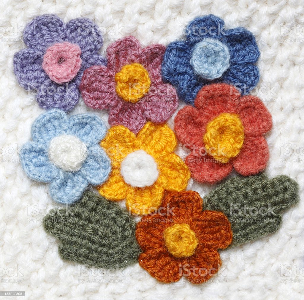 Crocheted Flowers stock photo