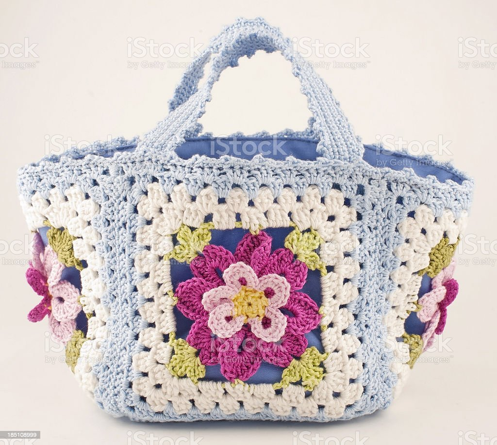 Crocheted Purse royalty-free stock photo