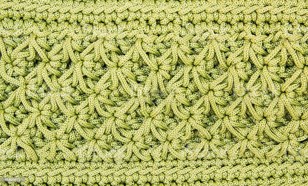 Crocheting hand bag pattern royalty-free stock photo