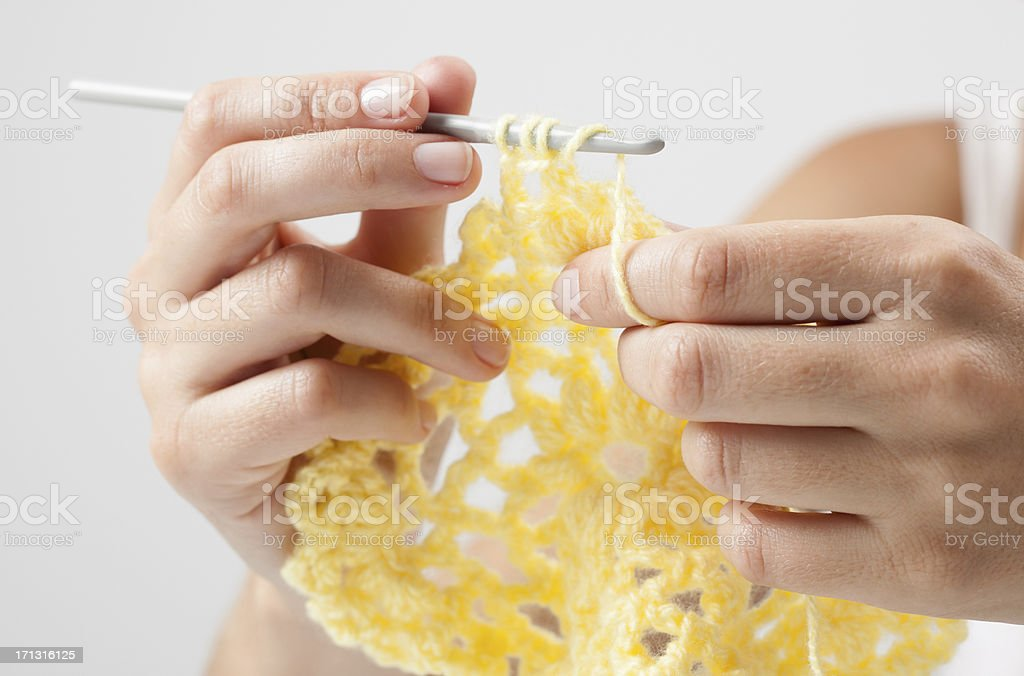 Crocheting royalty-free stock photo