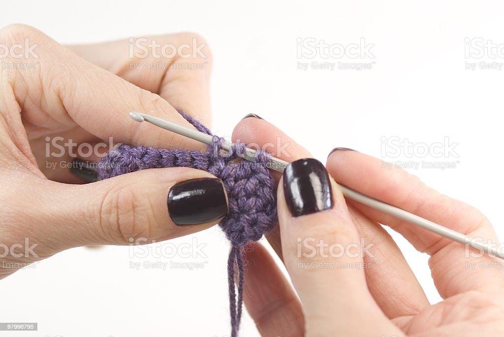 Crocheting royalty-free stock photo