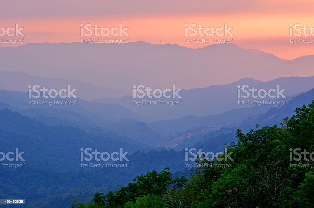 Crocker Range layers stock photo