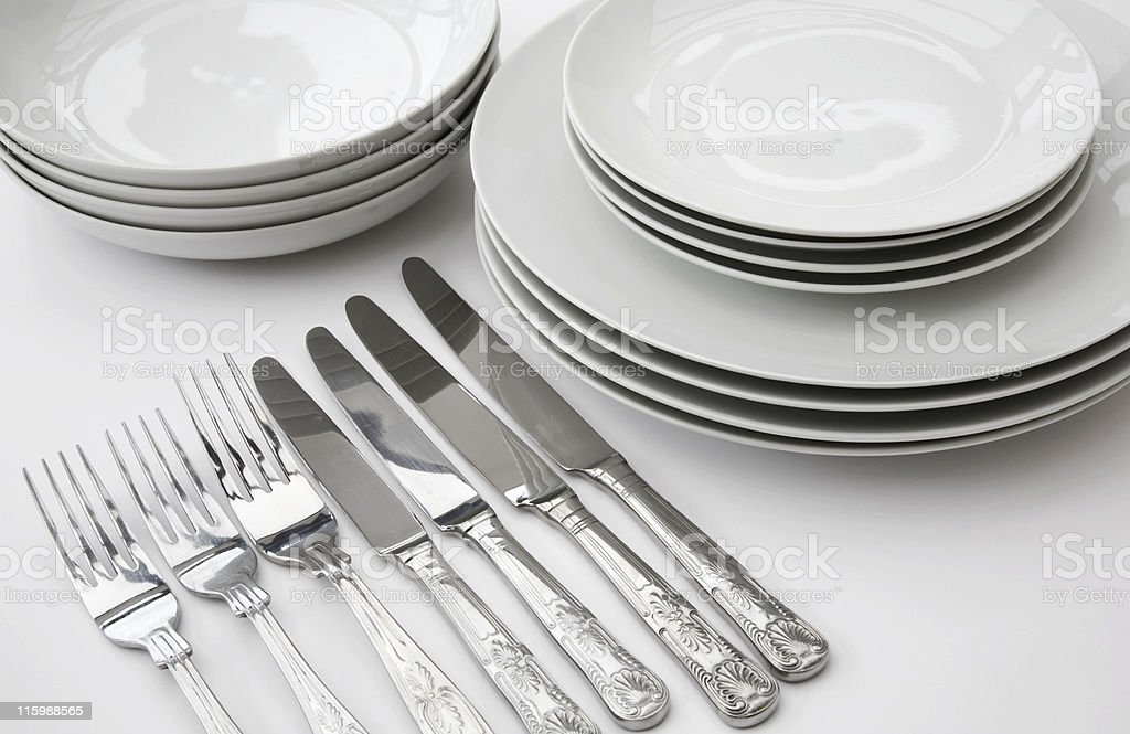 Crockery and Cutlery royalty-free stock photo
