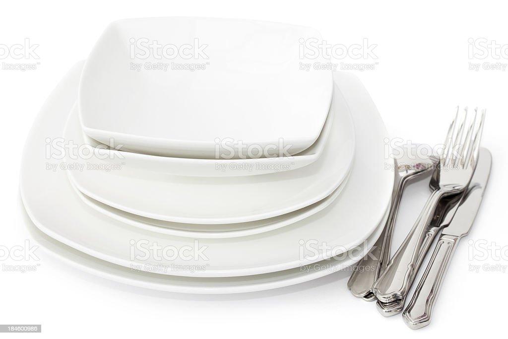 Crockery and Cutlery stock photo