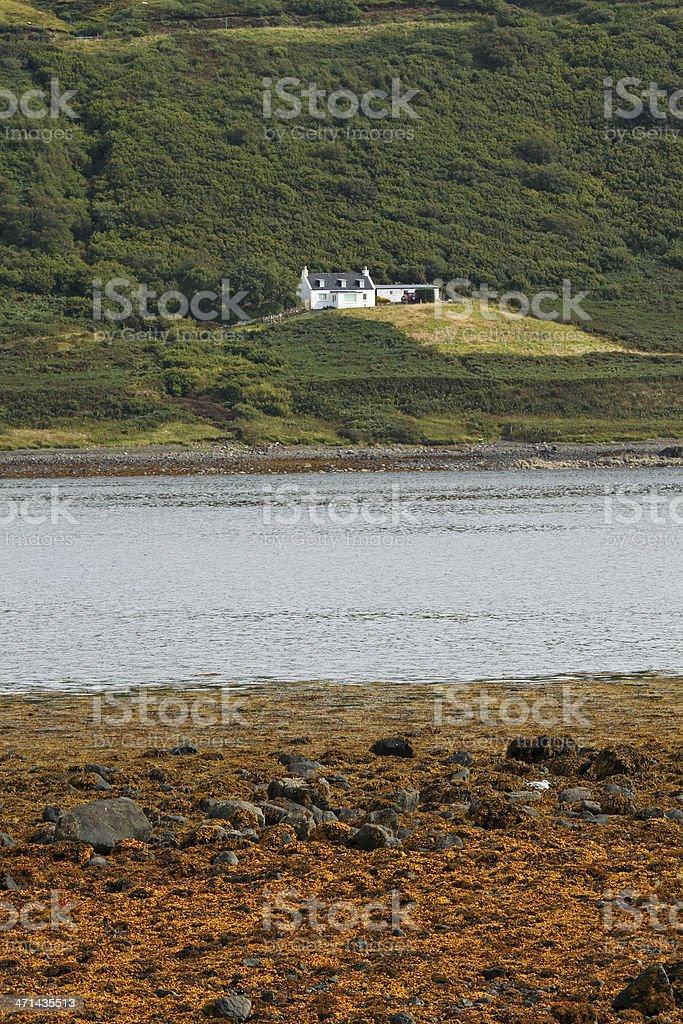 Croft cottage, Isle of Skye stock photo