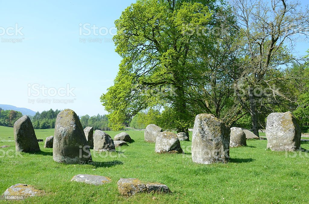 Croft Moraig stone circle, Perthshire stock photo