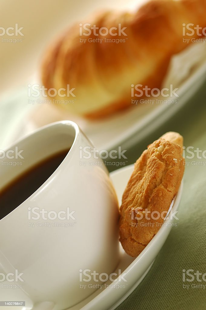 Croissant and coffe 06 royalty-free stock photo