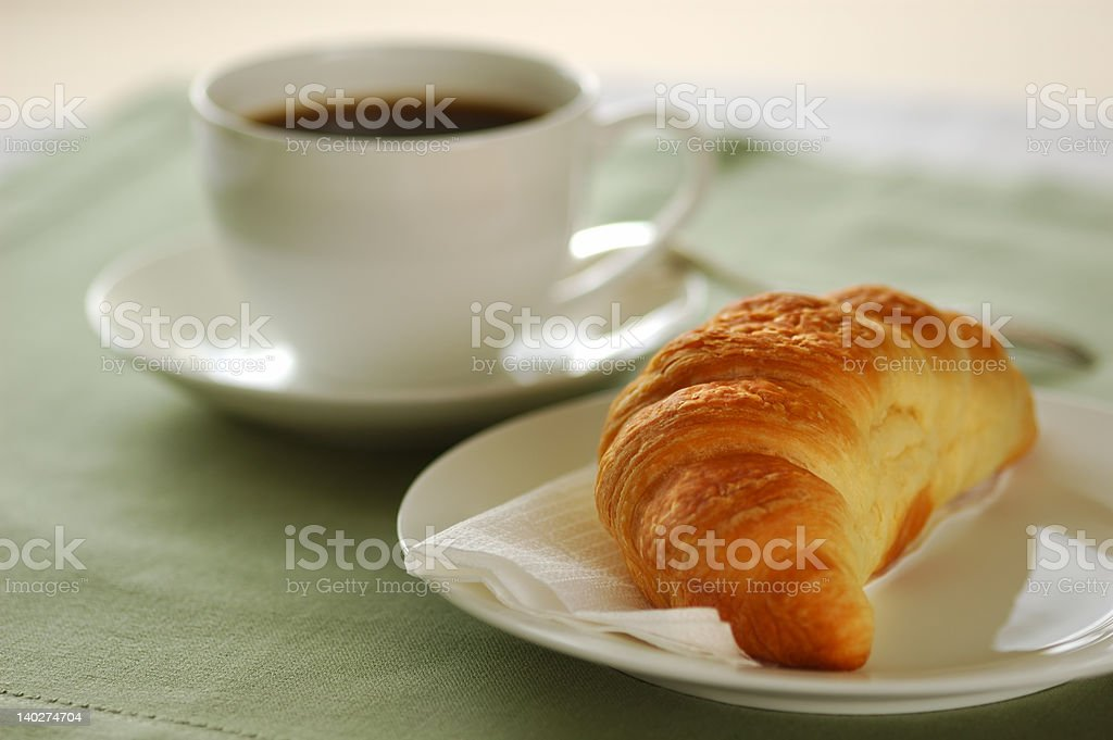 Croissant and coffee 01 royalty-free stock photo