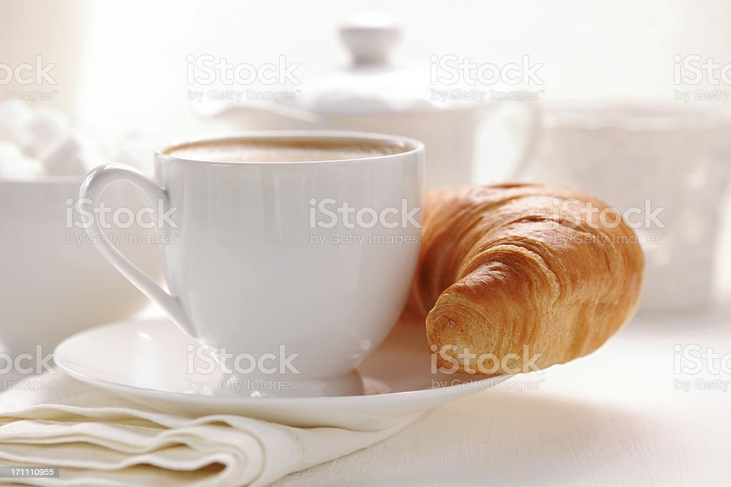 Croissant and coffee royalty-free stock photo