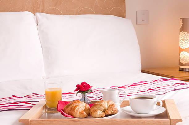 Croissant Breakfast Tray stock photo