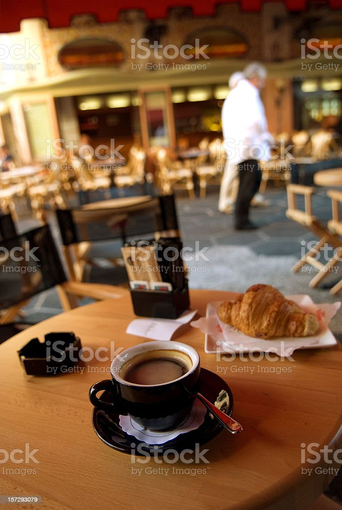 café croissant royalty-free stock photo