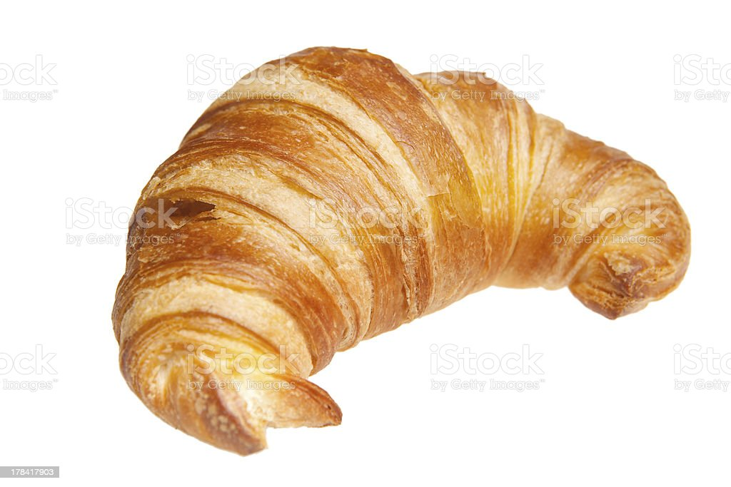 croissant isolated on white stock photo