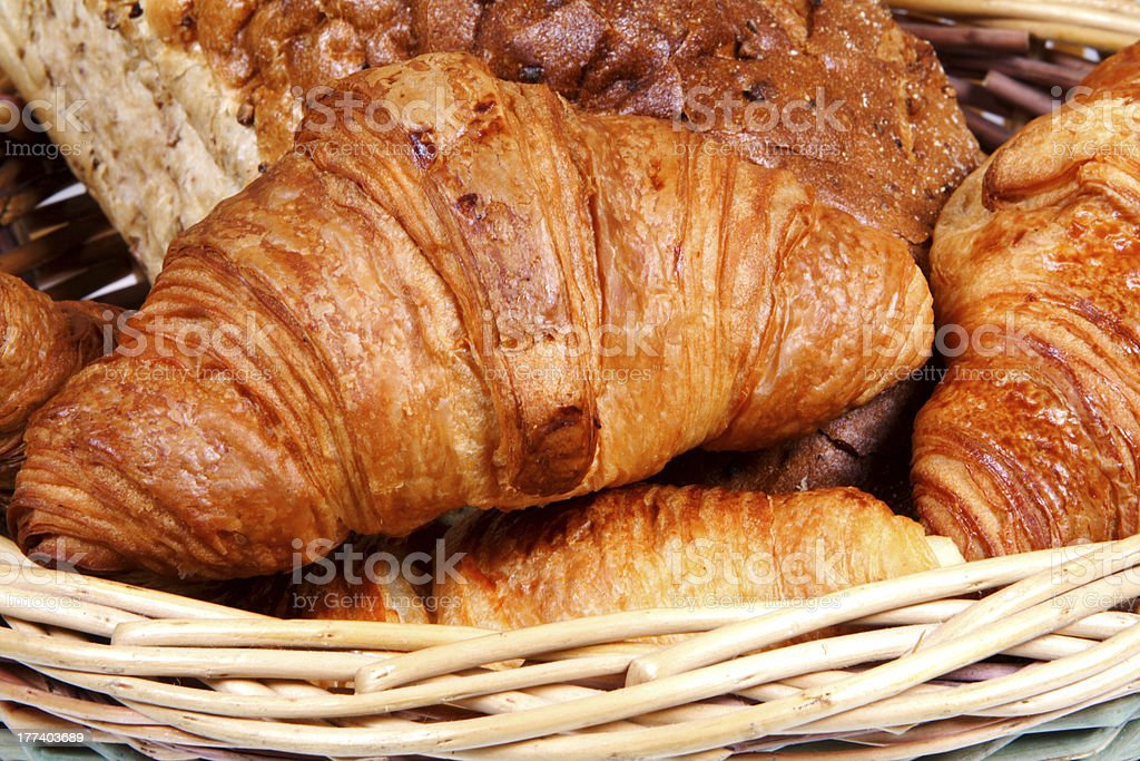 Croissants and bread royalty-free stock photo