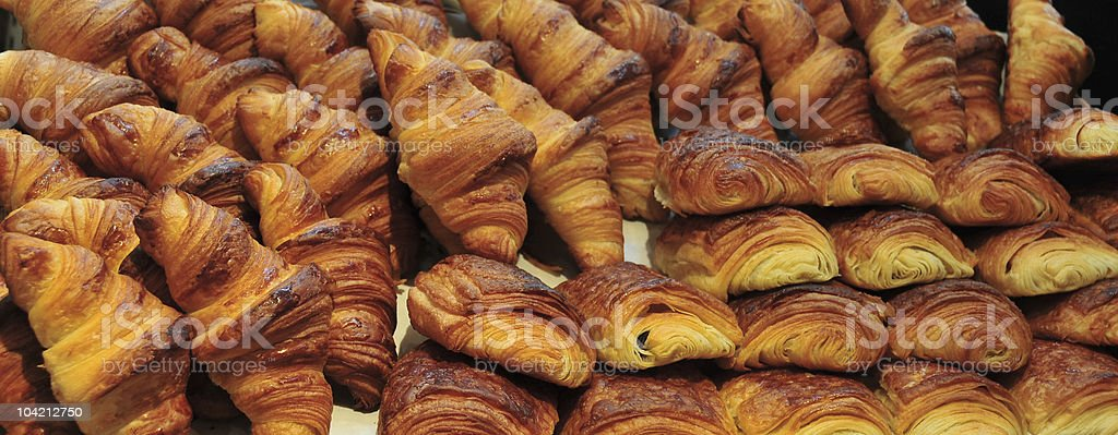 Croissants and Chocolate Pastry stock photo