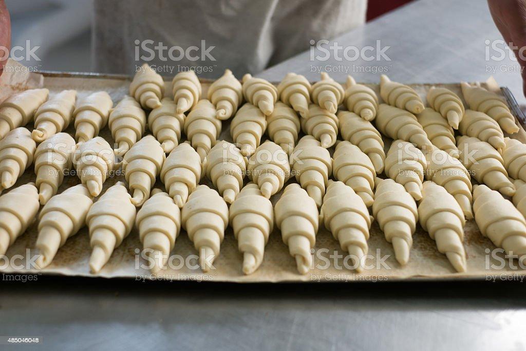 Croissants on Tray stock photo