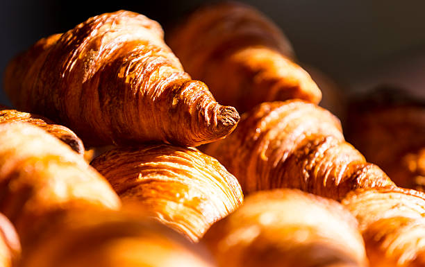 Croissants Many butter french good croissants croissant stock pictures, royalty-free photos & images