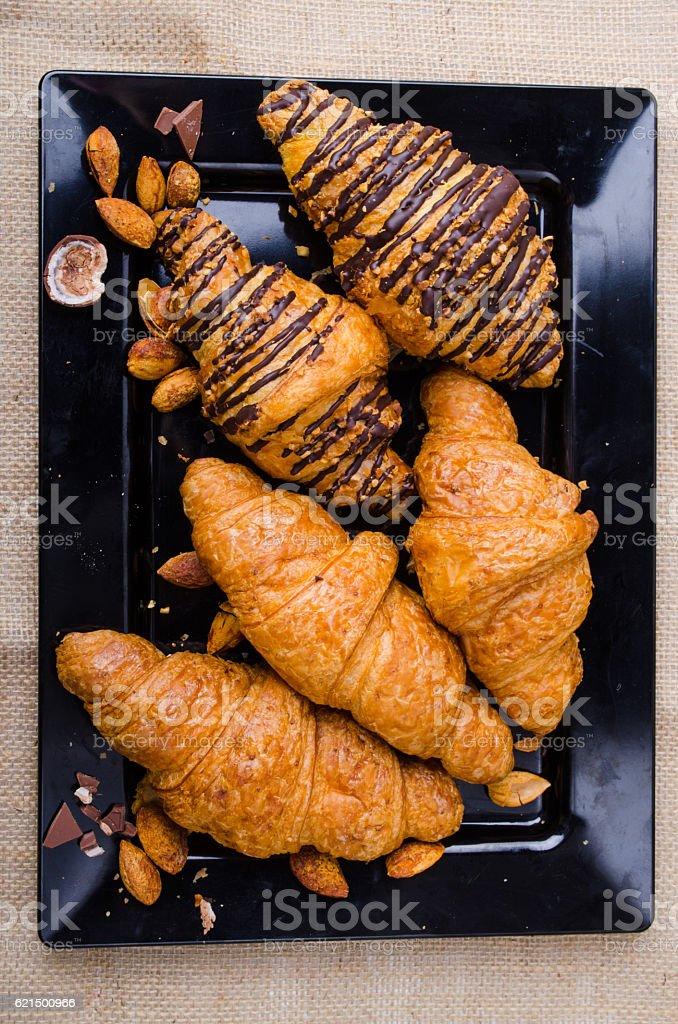 Des croissants  photo libre de droits