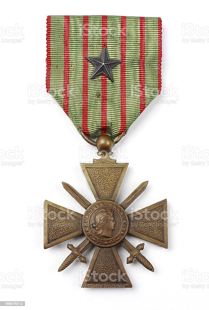 Croix de guerre avec citation ww1 – zdjęcie