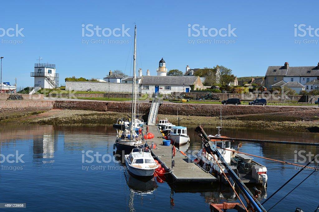 Cromarty Harbour stock photo
