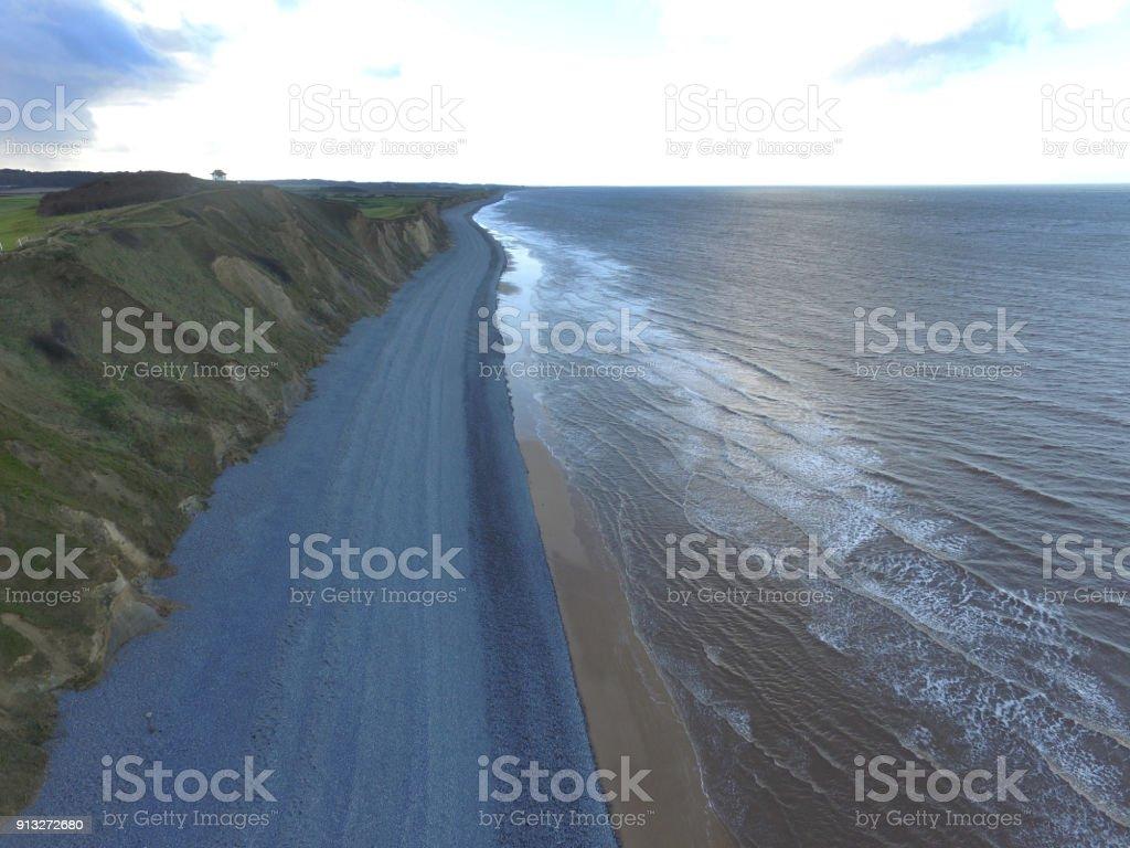 Cromer Cliffs England stock photo
