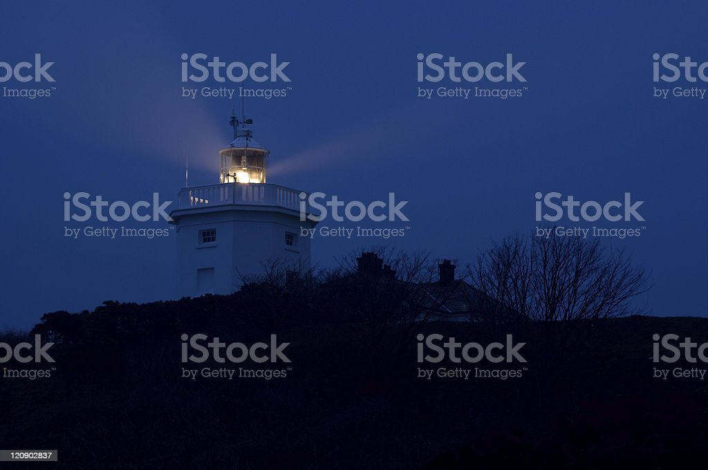 Cromer lighthouse at night stock photo