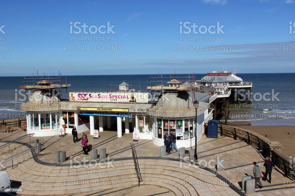 Cromer Pier and Cromer Pavilion Theatre stock photo