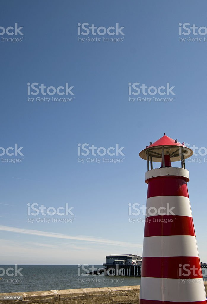 Cromer's other lighthouse stock photo