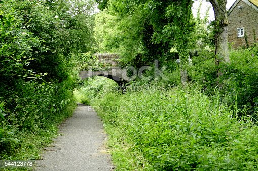 Cromford, Derbyshire, UK. June 30, 2016. The Towpath on the Cromford canal near Whatstandwell in Derbyshire.